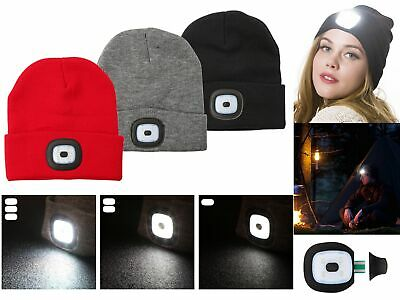 Winter Warm LED Light Knitted Beanie Hat Men Women With USB Rechargeable Battery