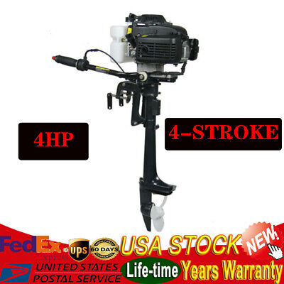 4HP 4Stroke Heavy Duty Outboard Motor Engine Fishing Boat Air Cooling System HOT