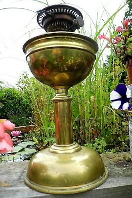 antique HINKS oil lamp and duplex lift burner Victorian brass