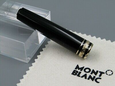 MONTBLANC Ballpoint Pen 164 Pix Nude Cap Top PART With BLACK & Gold Post 90s NEW