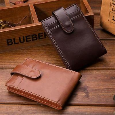 Vintage Mens PU Leather Wallet Long Credit Card Money Coin Holder Purse Slim FA