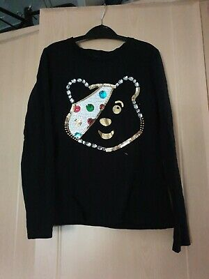 Girls Pudsey Bear Long sleeved Top Age 7-8 Years From George