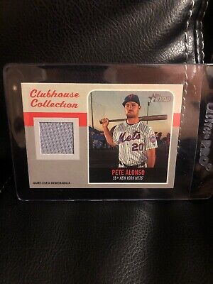 2019 Topps Heritage High Number Pete Alonso Clubhouse Relic Jersey New York Mets