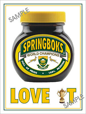 Japan 2019 Rugby World Cup South Africa Metal Sign Marmite Sign Springboks