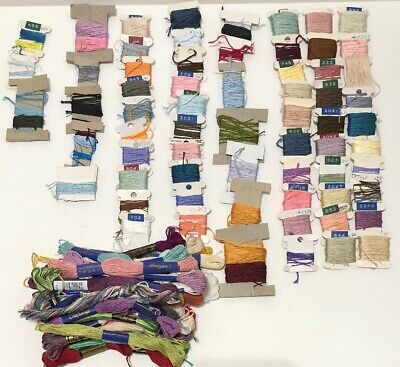 Lot Of 100+ Colors Multiple Brands Embroidery Thread Skeins And Cards Lot