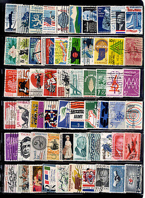 5 Cent 100 Stamps US Lot 1961-1967 Used
