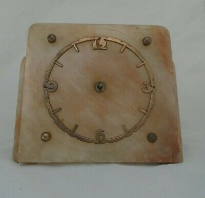 "Antique/Vintage ""Oynx Art Scotland"" Art Deco Marble Mantle Clock"