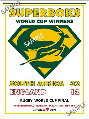 South Africa Metal Sign Marmite Sign Springboks Japan 2019 Rugby World Cup