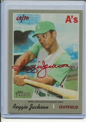 2019 Topps Heritage High Red 69/70 Reggie Jackson Real One Autograph Auto