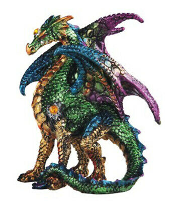 GREEN SENTRY        Standing Blue Dragon  Statue   H5""