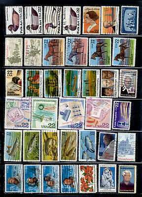 22 Cent 59 Stamps Lot 1985-1988 Used