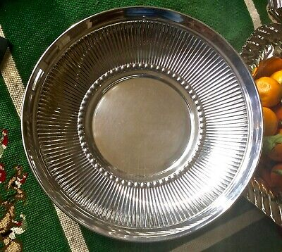 "12"" Signed Christian Dior Sterling Silver Italian Fruit Bowl"