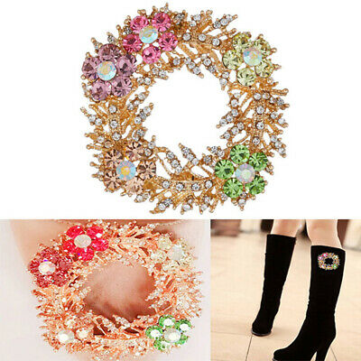 1PC Rhinestone Crystal Pearl Shoe Clips Women Shoes Party Accessories Ornam BX