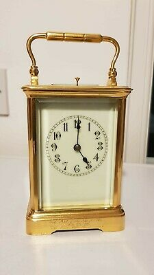 Antique Brass Case Repeat Strike 4 Glass Carriage Clock