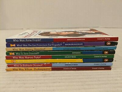 Who Was Book Lot Of 8 Where Is What Was Free Shipping Obama Polo Anne Frank++