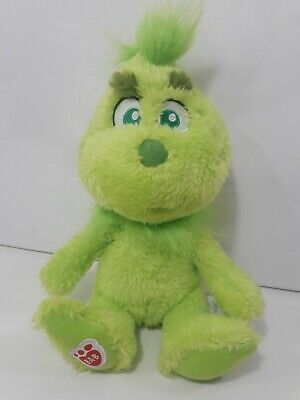 """Build A Bear Baby Young Mini Grinch Who Stole Christmas Stuffed Plush 8"""" Toy"""