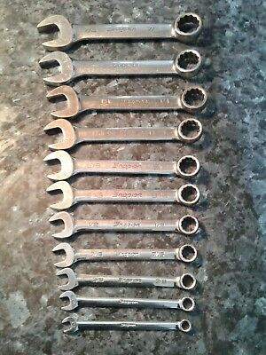 "Snap on short a/f spanners 1/4""  -  7/8"""