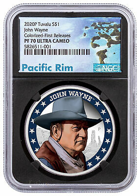 2020 Tuvalu JOHN WAYNE THE DUKE coin .9999 ultra fine silver