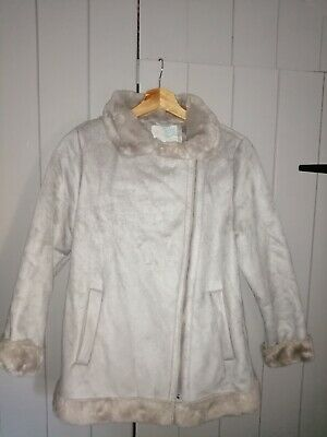 ZARA GIRL'S Infant Girls Faux Taupe Sheepskin Look  Bomber Jacket