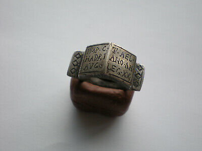 VERY RARE ANCIENT ROMAN LEGIONARY SILVER RING -Legio XX