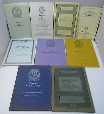 Collection of 9x Vintage Art Auction Catalogues 1969-1975 Christie's, Sotheby's