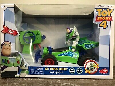 Disney Pixar Toy Story 4 RC Remote Control Turbo Buggy Buzz Lightyear In Hand