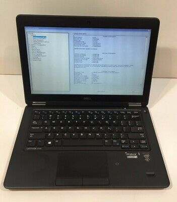 "Dell Latitude E7250 12.5"" i7-5600U 2.6GHz 8GB, 250GB Win10 1366 X 768 C Grade"