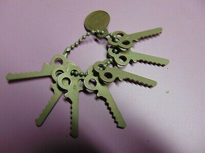 old vintage yale depth keys 1 to 6                   locksmith