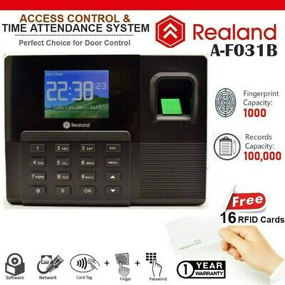 REALAND A-F031B Biometric Fingerprint Time Attendance TCP/IP USB + 16 RFID Card