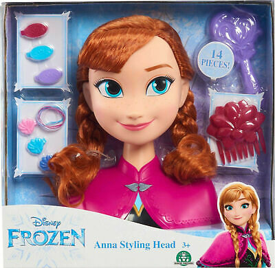 Just Play Disney Frozen Anna styling head Toys For Girls Christmas Gifts NEW!!!