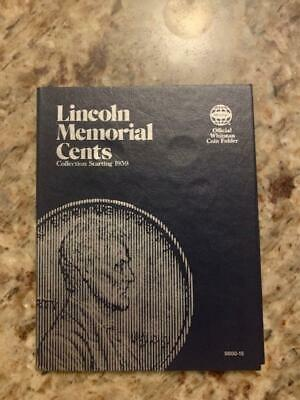 Whitman Coin Book 9000-15 Lincoln Memorial Cents 1959 - 1988 61 Nice Red Cents