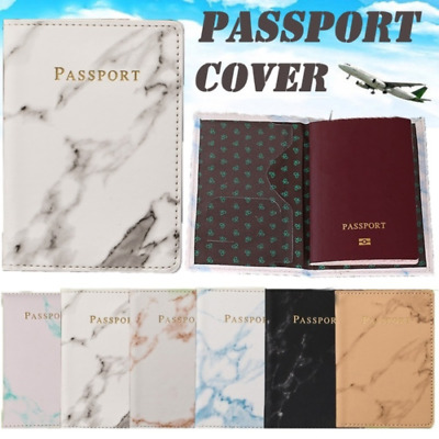 Slim Leather Travel Passport Wallet Holder RFID Blocking ID Card Case Cover