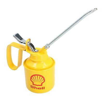 Shell Oil Can Applicator Vintage Style Decorative Lubricant Pot Metal Spout