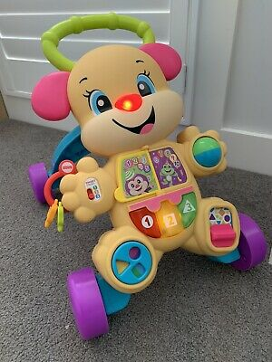 FISHER PRICE Learn w/ Puppy Musical Baby Walker 75+ Songs Phrases Lights 6M+