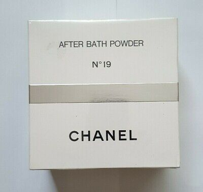 Cellophane Sealed Vintage CHANEL No19 AFTER BATH POWDER Perfumed Talc Large 330g