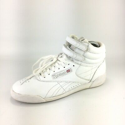 REEBOK FREESTYLE HI GS Junior Casual Sneakers White J93534  Fast Shipping LS7c