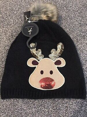 Older Girls Rudolph Hat Brand New With Tags