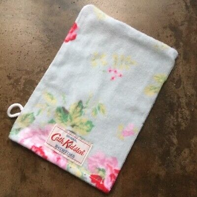 Cath Kidston 'Antique Rose', Duck Egg Blue, Velour, Wash Mitt, BN