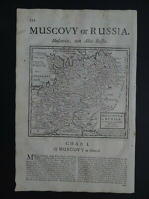 1722 Herman MOLL  Atlas map  RUSSIA - MOSCOVY - Moscovia Muscovy Russie