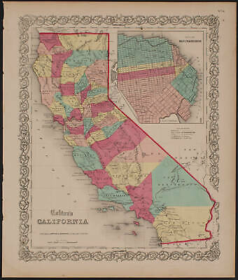 Colton's California. Published by Johnson and Browning