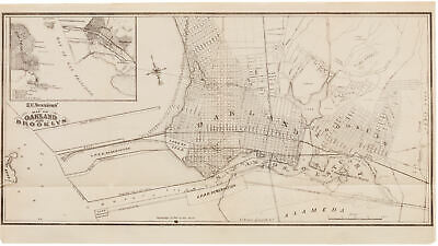 E. C. Sessions' Map of Oakland and Brooklyn