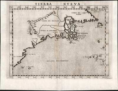 Rare first state of one of the earliest maps of the Eastern Seaboard.