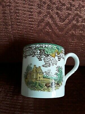 "Copeland Spode's ""Byron"" Cup Very Decorative Country House Scene"