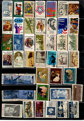 8 Cent 64 Stamps US Lot 1971-1974 Used