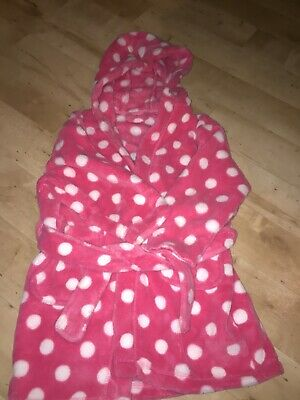 Next Girls Dressing Gown Pink Age 2-3 Excellent Condition
