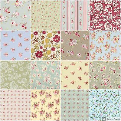 CLARKE AND CLARKE Floral Cotton Fabric MANY DESIGNS Curtains Upholstery Cushions