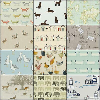 THEMED FABRIC CLARKE AND CLARKE & FRYETT'S 12 designs Curtains Upholstery Craft