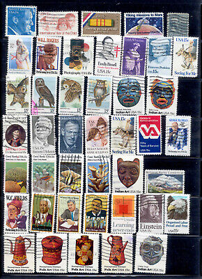 15 Cent 72 Stamps US Lot 1978-1981 Used