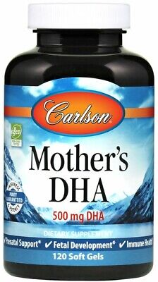 (80g, 51,95 EUR/100g) Carlson Labs Mother's DHA, 500mg - 120 softgels