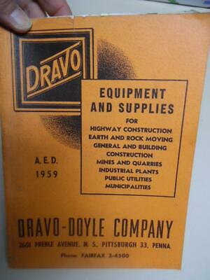 1959 Dravo-Doyle Construction Road Building Machinery Catalog Pittsburgh Vintage